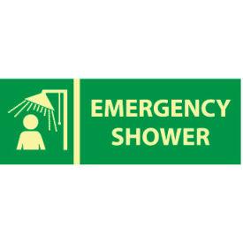 Glow Sign Vinyl - Emergency Shower