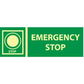 Glow Sign Vinyl - Emergency Stop