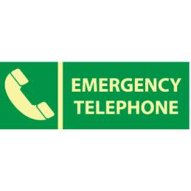 Glow Sign Rigid Plastic - Emergency Telephone