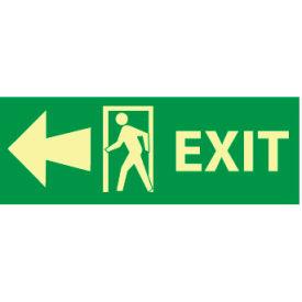 Glow Sign Rigid Plastic - Exit(w/ Door And Left Arrow)