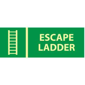Glow Sign Rigid Plastic - Escape Ladder
