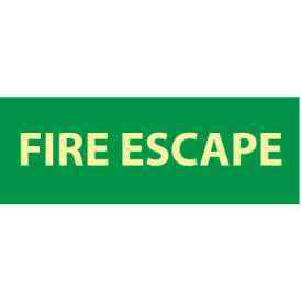 Glow Sign Rigid Plastic - Fire Escape