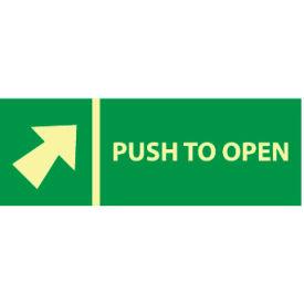 Glow Sign Rigid Plastic - Push Bar To Open(w/ Arrow)