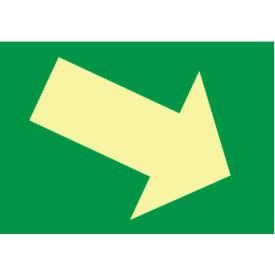 Glow Sign Rigid Plastic - Arrow Diagonal