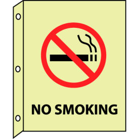 3D Glow Sign Plastic - No Smoking