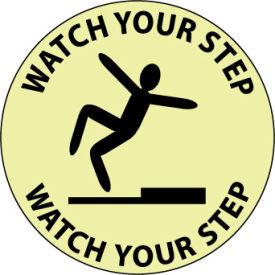 Glow Floor Sign - Watch Your Step