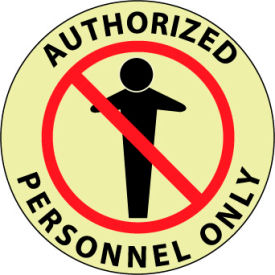 Glow Floor Sign - Authorized Personnel Only