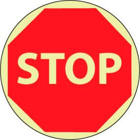 Glow Floor Sign - Stop