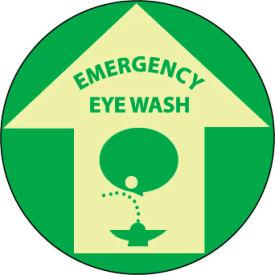 Glow Floor Sign - Emergency Eye Wash