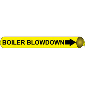 Precoiled and Strap-on Pipe Marker - Boiler Blowdown