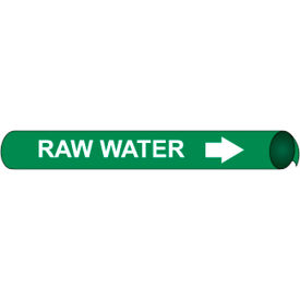 Precoiled and Strap-on Pipe Marker - Raw Water