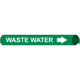 Precoiled and Strap-on Pipe Marker - Waste Water