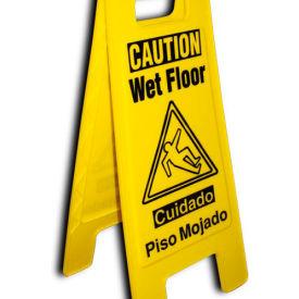 Heavy Duty Floor Stand - Caution Wet Floor - Bilingual