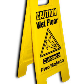 Heavy Duty Floor Stand - Caution Watch Your Step - Bilingual