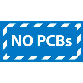 Hazardous Waste Vinyl Labels - No PCB's