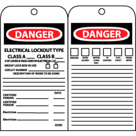 Jumbo Accident Prevention Tags - Electrical Lockout Type