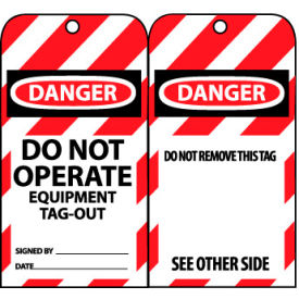 Lockout Tags - Do Not Operate Equipment Tag-Out