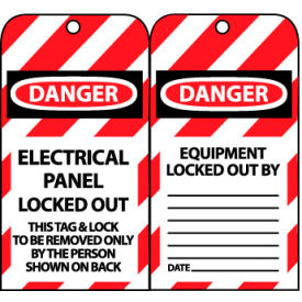 Lockout Tags - Electrical Panel Locked Out