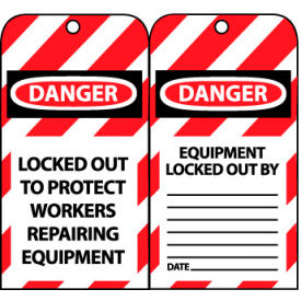 Lockout Tags - Locked Out To Protect Workers Repairing Equipment