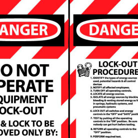 Lockout Tags - Do Not Operate Equipment Lock-Out