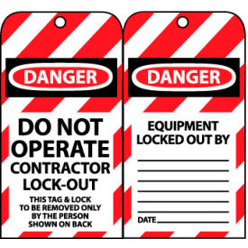 Lockout Tags - Do Not Operate Contractor Lock-Out