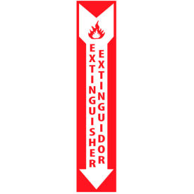 Fire Safety Sign - Bilingual - Extinguisher Extinor - Vinyl