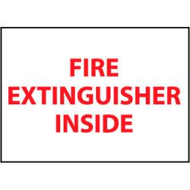 Fire Safety Sign - Fire Extinguisher Inside - Vinyl