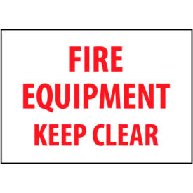 Fire Safety Sign - Fire Equipment Keep Clear - Plastic
