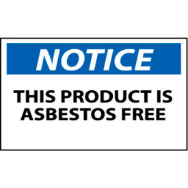Machine Labels - Notice This Product Is Asbestos Free
