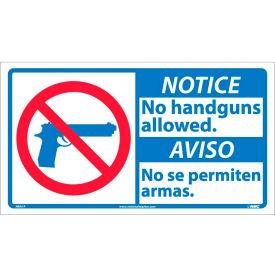 Bilingual Vinyl Sign - Notice No Handguns Allowed