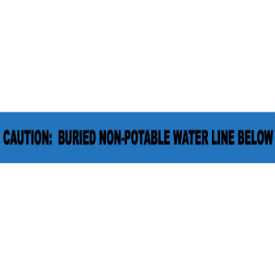 "Non-Detectable Underground Warning Tape - Caution Buried Non-Potable Water - 3""W"