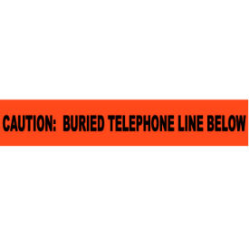 """Non-Detectable Underground Warning Tape - Caution Buried Telephone Line - 3""""W"""