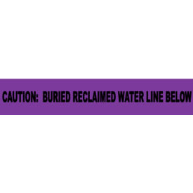 """Non-Detectable Underground Warning Tape - Caution Buried Reclaimed Water - 3""""W"""