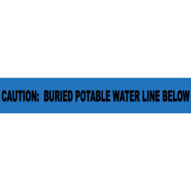 "Non-Detectable Underground Warning Tape - Caution Buried Potable Water - 6""W"