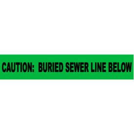 """Non-Detectable Underground Warning Tape - Caution Buried Sewer Line Below - 6""""W"""