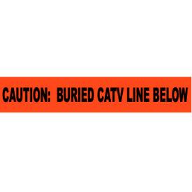 "Non-Detectable Underground Warning Tape - Caution Buried CATV Line Below - 6""W"