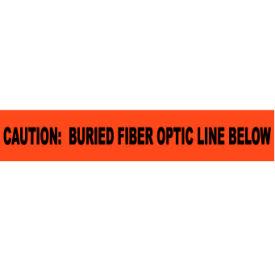"Non-Detectable Underground Warning Tape - Caution Buried Fiber Optic Line - 6""W"