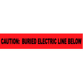 """Non-Detectable Underground Warning Tape - Caution Buried Electric Below - 6""""W"""