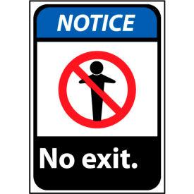Notice Sign 14x10 Rigid Plastic - No Exit
