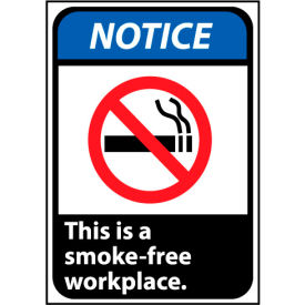 Notice Sign 10x7 Vinyl - This Is A Smoke-Free Workplace