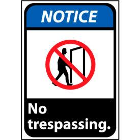 Notice Sign 14x10 Aluminum - No Trespassing