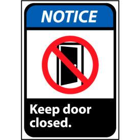 Notice Sign 10x7 Rigid Plastic - Keep Door Closed