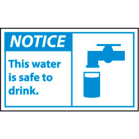 Graphic Machine Labels - This Water Is Safe To Drink