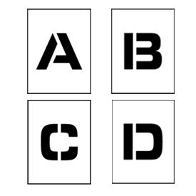 """Individual Character Stencil 8"""" - Letter Set A-Z"""