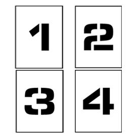"""Individual Character Stencil 12"""" - Number Set 0-9"""