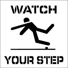 Plant Marking Stencil 20x20 - Watch Your Step