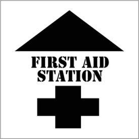 Plant Marking Stencil 20x20 - First Aid Station