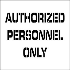 Plant Marking Stencil 20x20 - Authorized Personel Only