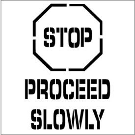 Plant Marking Stencil 20x20 - Stop Proceed Slowly