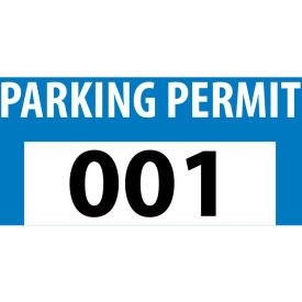 Parking Permit - Blue Bumper Decal 001 - 100